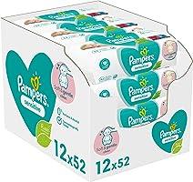 Pampers Sensitive - Babydoekjes Voor De Gevoelige Huid, Geurvrij - 12 x 52 Stuks - 624 Doekjes