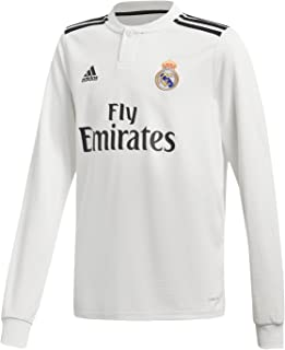 adidas 2018-2019 Real Madrid Home Long Sleeve Football Soccer T-Shirt Jersey (Kids)