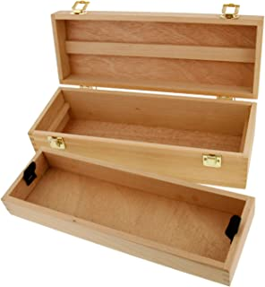 US Art Supply Artist Wood Pastel, Pen, Marker Storage Box with Drawer(s) (Medium Tool Box)