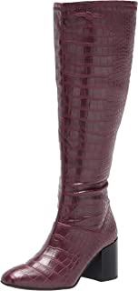 Franco Sarto Women's Tribute Knee High Boot, Mulberry Wide Calf, 7.5