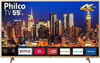 "Smart TV, Philco, PTV55F61SNC 4K LED, 55"", Champagne"