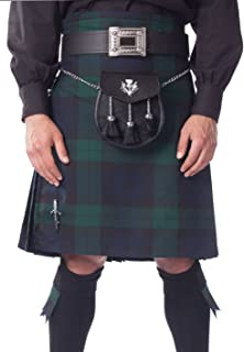 Kilt Society Mens 8 Yard Scottish Tartan Kilt