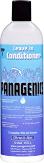 Panagenics | Pet Leave-in Conditioner - Safe for All Animals, Unscented, Contains Citrus and Aloe Active Ingredients - 16 Ounce Bottle