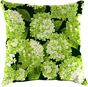Plow & Hearth Polyester Classic Throw Pillow - 22 sq. x 8 Forest Hydrangea