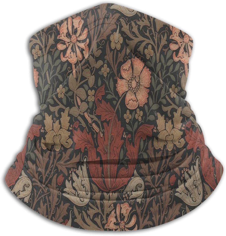 YAZXHJAZ Neck Gaiter Warmer Superior Mask Memphis Mall Pattern H Retro Bandanas Flower