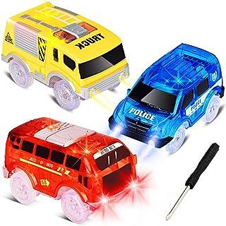 تعویض اتومبیل ها فقط 5 اتومبیل اسباب بازی را با 5 چراغ چراغ چشمک زن ، لوازم جانبی مسابقه اتومبیل آهنگ سازگار با آهنگ های جادویی و آهنگ های جدید را با بیشترین آهنگ های مخصوص پسران و دختران سبک کنید (3 بسته)