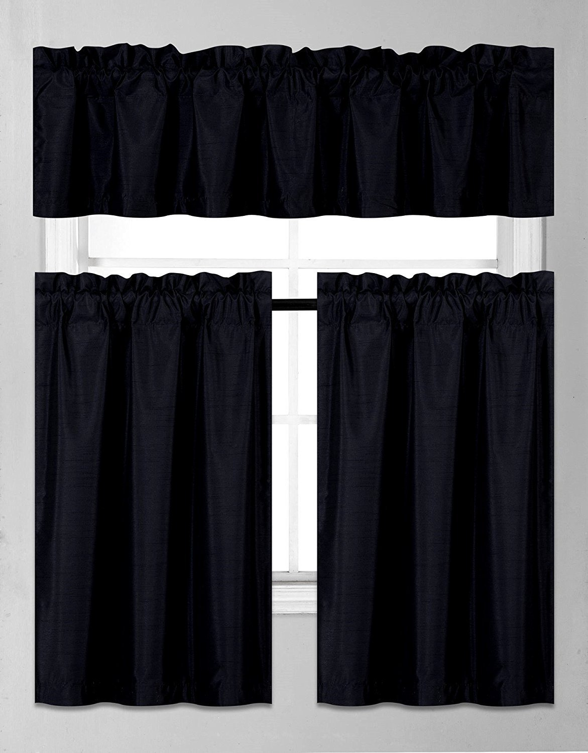 black kitchen curtains amazon com rh amazon com