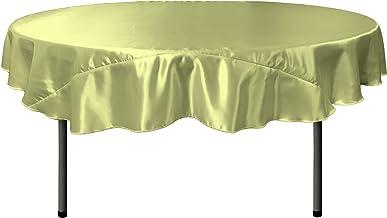 LA Linen Bridal Satin Round Tablecloth, 72-Inch, Sage
