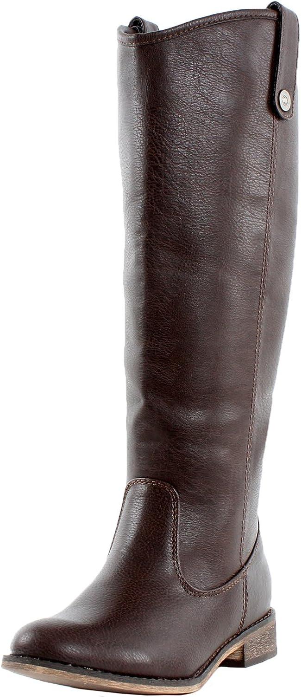 Breckelles Rider-18 Western Boots, Brown Pu, 6.5