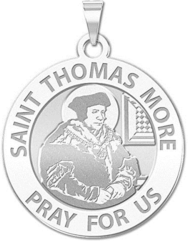 PicturesOnGold.com Saint Thomas More Selling and selling sale Religious 3 Medal Inch - 4