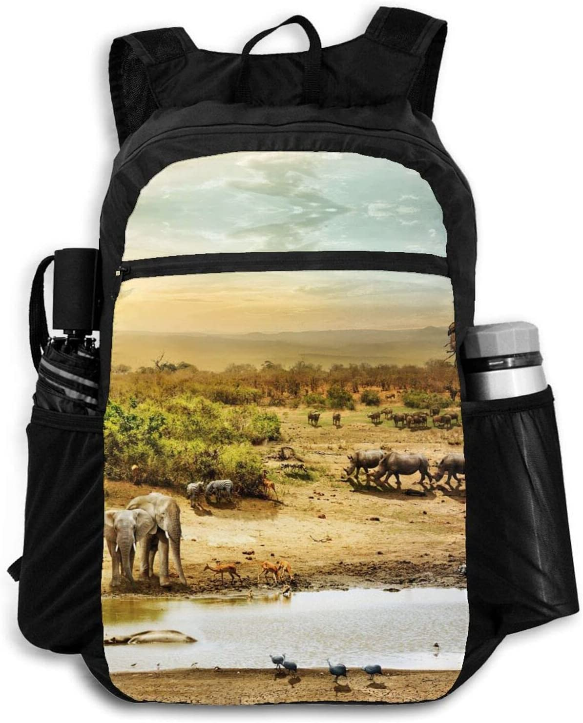 Year-end annual account Sale special price Zolama South African Fantasy Land Backpacks Men Women P for Cute
