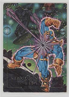 Silver Surfer; Thanos (Trading Card) 1992 SkyBox Marvel Masterpieces - Battle Spectra #2-D