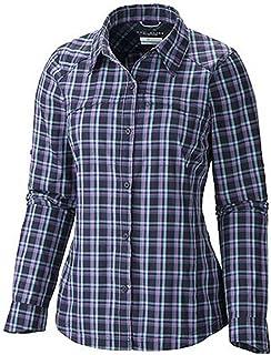 Columbia Sportswear Womens Silver Ridge Plaid Long Sleeve Shirt, Inkling, X-Small