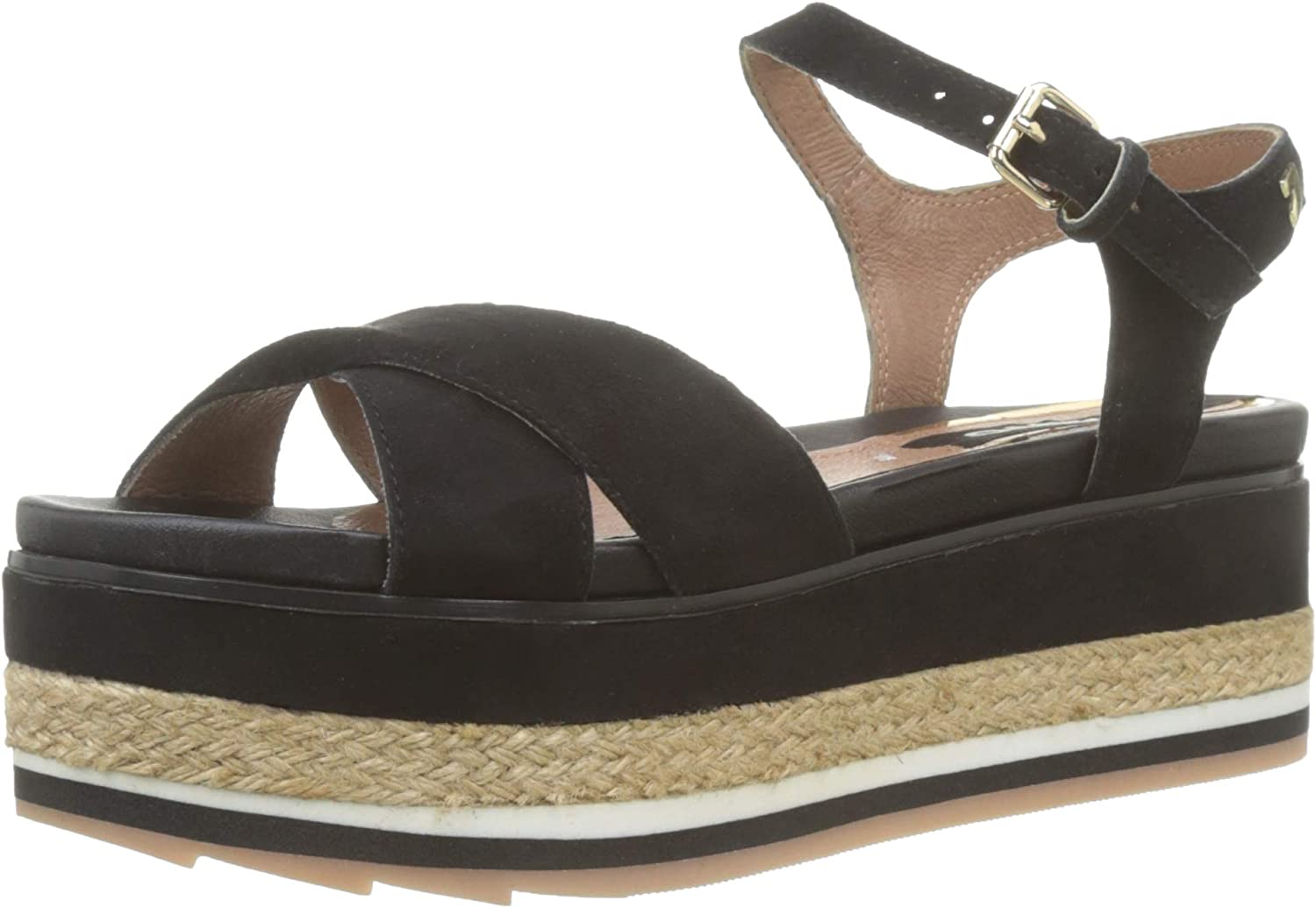 GIOSEPPO women's shoes wedge sandals 48565 LUGA BLACK