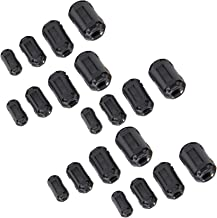 Sweet48 10Pcs Clip-on Ferrite Magnetic Ring Core RFI EMI Noise Suppressor Cable Clips for 13mm Diameter Cable 10Pcs