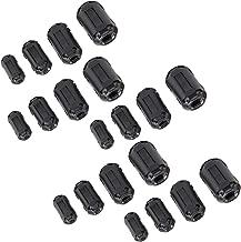 Ferrite Ring Core Black RFI EMI Noise Suppressor Cable Clip-20Pcs
