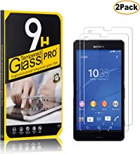Casake[2 Pack] Sony Xperia Z3 Compact Screen Protector(Tempered Glass),9H Hardness, 6X Stronger, Tempered Glass Film for Sony Xperia Z3 Compact, Clear