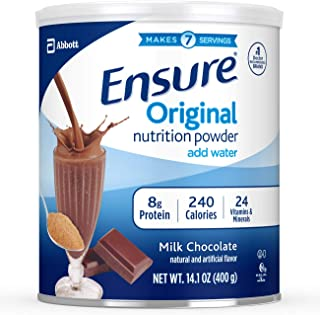 Ensure Original Nutrition Shake Powder with 8g of Protein, Meal Replacement Shakes, Milk Chocolate, 14.1 Oz