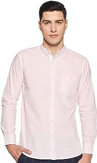 Amazon Brand - Symbol Men's Solid Regular Fit Full Sleeve Cotton Casual Shirt