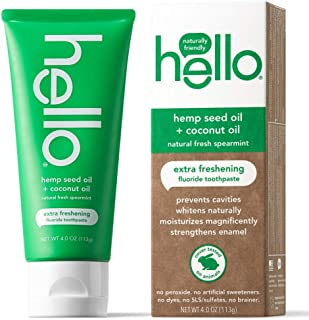 Hello Oral Care Hemp seed oil fluoride toothpaste, 4 Ounce