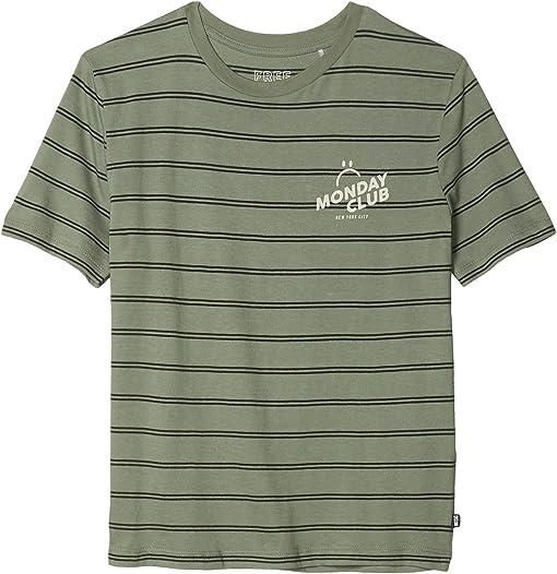 Khaki Stripe/Monday Club