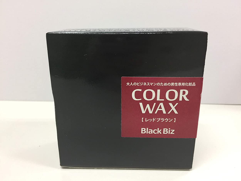 靴対角線経験大人のビジネスマンのための男性専用化粧品 BlackBiz COLOR WAX ブラックビズ カラーワックス 【レッドブラウン】