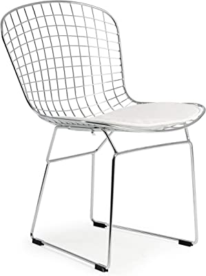 Poly and Bark Morph Side Chair in White (Set of 4)