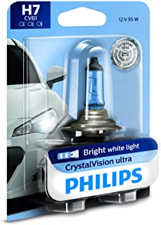 Philips H7 CrystalVision Ultra Upgrade Bright White Headlight Bulb, 1 Pack