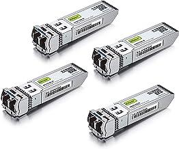 10GBase-LR SFP+ Transceiver, 10G 1310nm SMF, up to 10 km, Compatible with Cisco SFP-10G-LR, Meraki MA-SFP-10GB-LR, Ubiquiti UF-SM-10G, Mikrotik, Supermicro, Netgear and More, Pack of 4