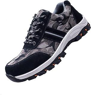 Zapatos de Seguridad Hombres Zapatos de Acero con Punta de Seguridad,Botas de Seguridad,Zapatillas Deportivas Ligeras e In...