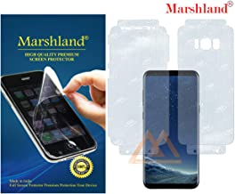 MARSHLAND Front & Back Screen Protector Anti Scratch Bubble Free Screen Guard Compatible for Samsung Galaxy S8 (Transparent)