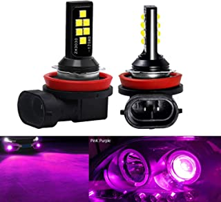 SOCAL-LED LIGHTING 2x H11 H8 LED Fog Light Bulb Advanced 3030 SMD Bright Colorful Daytime Running DRL Lamp, Pink Purple