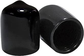 Prescott Plastics 1/2 Inch Round Black Vinyl End Cap, Flexible Pipe Post Rubber Cover (50)