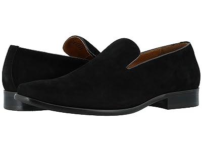 Florsheim Postino Plain Toe Slip-On (Black Nubuck) Men