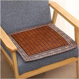Asiento cojín de la silla de ratón, estera del verano del amortiguador respirable muebles cojines antideslizantes Oficina Estudiante de la silla del coche de bambú cojín fresco de comidas 45x45cm Cojí