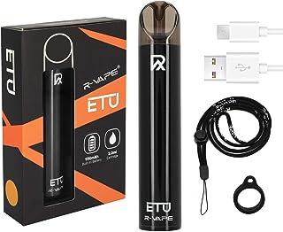 Hearkey 電子タバコ 最新型VAPE 爆煙 ベイプ スターターキット でんしたばこ 禁煙補助に最適 900mAh POD型 ニコチンなし ストラップ付き ブラック