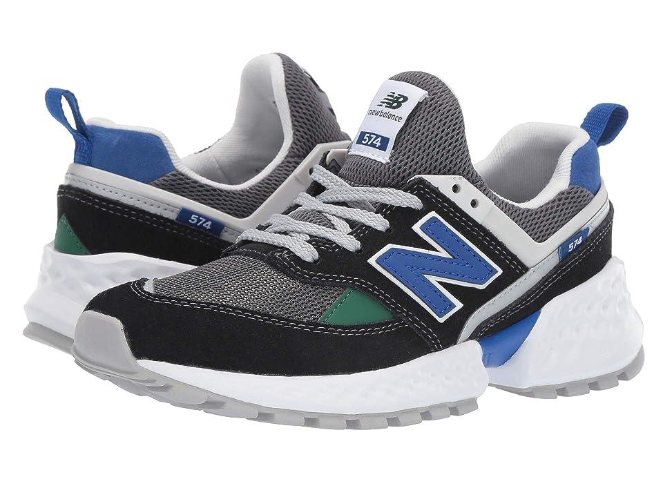 New Balance Kids GS574v2 (Big Kid) (Black/UV Blue) Boys Shoes