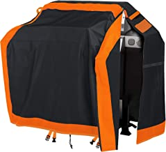 gulrear Gas Grill Covers, Grill Covers Heavy Duty Waterproof, BBQ Grill Cover 58 Inch, Barbeque Grill Cover with Full-Height Waterproof Zipper, High-Density, and Fade Resistant