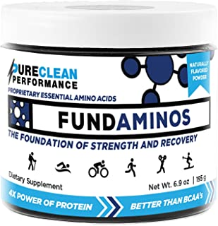 PureClean Performance FUNDAMINOS - Plant-Based Essential Amino Acid+BCAA Blend, Organic, Nothing Artificial, Athlete-Endorsed, Physician-Formulated for Peak Strength and Faster Recovery,30 Servings