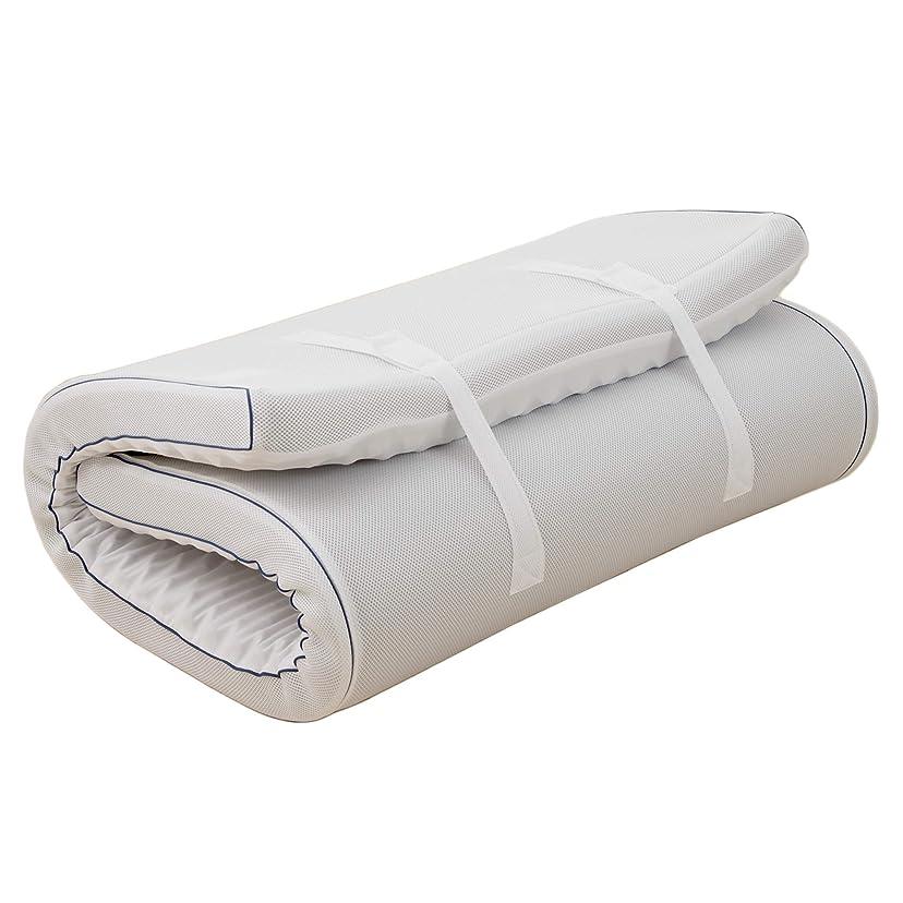 連邦合意くそー西川(Nishikawa) 点で支える健康マットレス ホワイト シングル 凹凸構造 ムレにくい SEVENDAYS セブンデイズ HC08258591NV