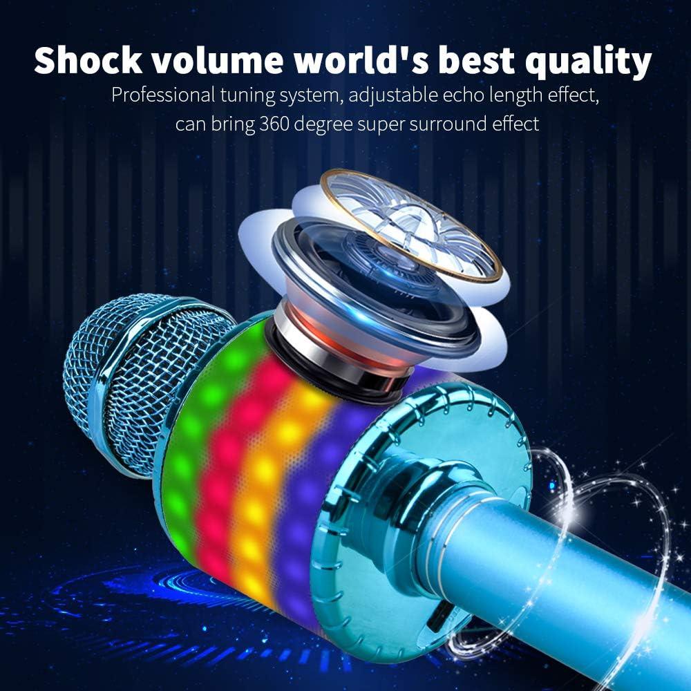 Popular Bluetooth Karaoke Microphone Machine with LED Light ...