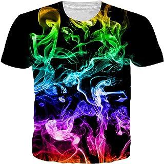 241243c2b7e030 Funnycokid Uomo T Shirts Stampare Pattern Manica Corta Estate Tee Shirt