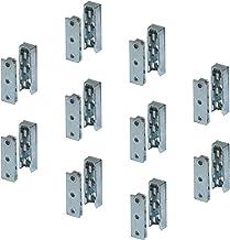 Meubelverbinders verborgen bedverbinders Stabiele meubelbeslagverbinder. 10 Set - Verbinder Solid MF Metaal verzinkt