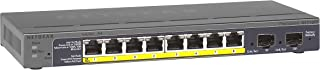 NETGEAR GS110TP 8 Port PoE Gigabit Ethernet Smart Managed Pro Network Switch, Hub, Internet Splitter Desktop, VLAN, IGMP,QoS