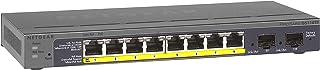 NETGEAR GS110TP 8 Port PoE Gigabit Ethernet Smart Managed Pro Network Switch, Hub, Internet Splitter Desktop, VLAN, IGMP,QoS