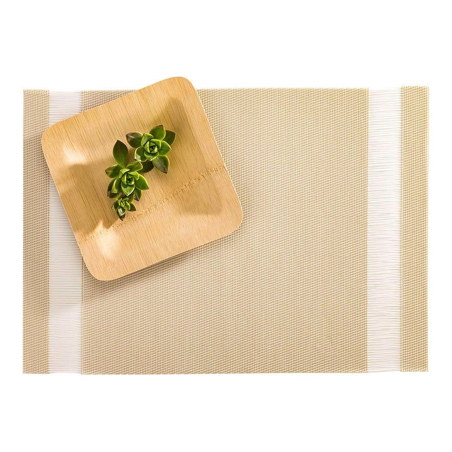 災害インゲン力学Restaurantware RWA0441 アーティザン ストライプ クリーム ビニール 織地 プレースマット 40.64cm x 30.48cm 6枚入り ボックス 41.91cm 長さ x 30.48cm 幅 x 0.2cm 高さ