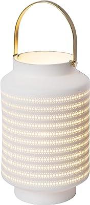 Lucide 13526/01/31 Lampe de Table, Porcelaine, 25 W, White