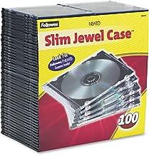 Fellowes 98335 Slim Jewel Case, 100 Pack