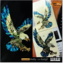 American Eagle (L&R Set) In Abalone Theme Inlay Sticker Decal Guitar & Bass
