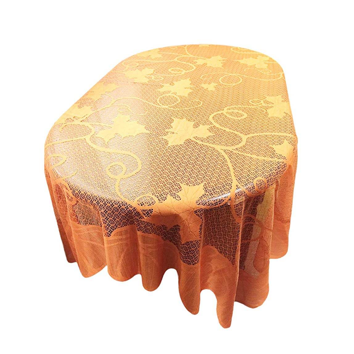 LUOEM Harvest Tablecloth Maple Leaves Pumpkin Tablecloth Lace Tablecover Thanksgiving Day Party Table Decoration 60